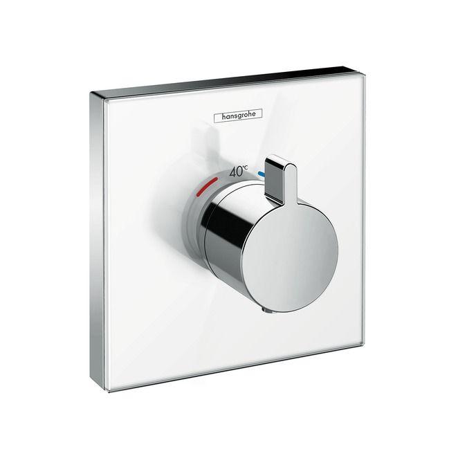 HansGrohe ShowerSelect glas falsík alatti highflow termosztátos csaptelep / 15734600 /15734 600