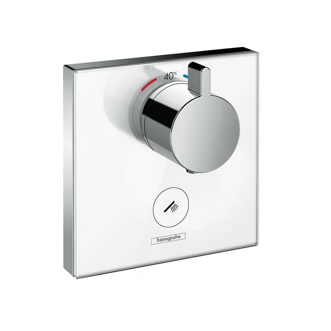 HansGrohe ShowerSelect Glas / falsíkon kívüli 1+1 fogyasztóhoz / 15735600 / 15735 600