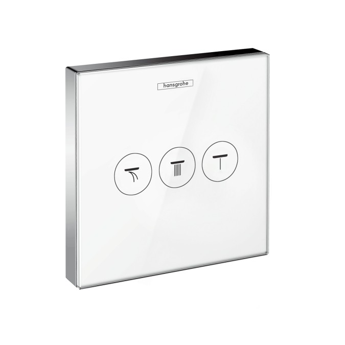 HansGrohe ShowerSelect glass falsík alatti szelep, 3 fogyasztóhoz / 15736400 / 15736 400