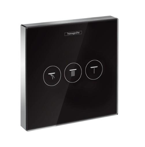 HansGrohe ShowerSelect glass falsík alatti szelep, 3 fogyasztóhoz / 15736600  15736 600