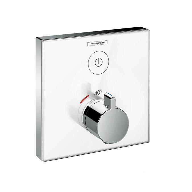 HansGrohe ShowerSelect glass falsík alatti termosztátos csaptelep / 1 fogyasztóhoz / 15737600 / 15737 600
