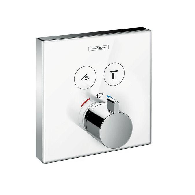 HansGrohe ShowerSelect glass falsík alatti termosztátos csaptelep / 2 fogyasztóhoz / 15738400 / 15738 400