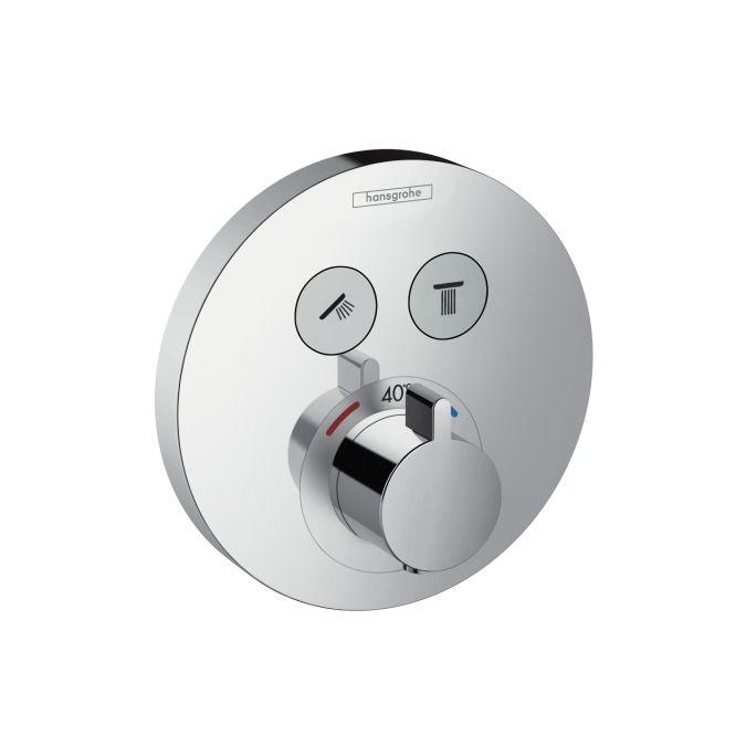 HansGrohe ShowerSelect S termosztátos csaptelep / falsík alatti szereléshez / 2 fogyasztóhoz / 15743000 / 15743 000
