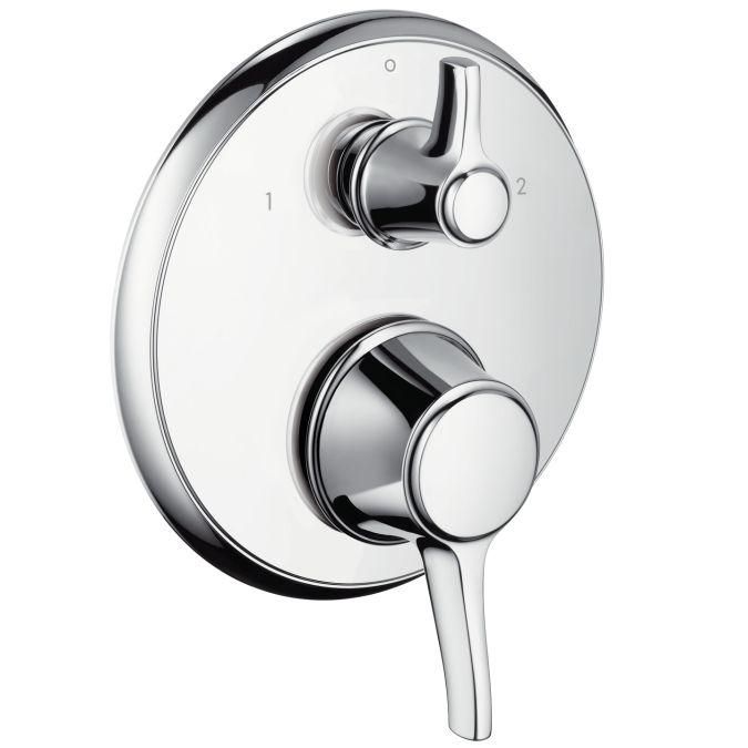 HansGrohe Ecostat Classic termosztátos csaptelep színkészlet falsík alatti szereléshez / elzáró- és váltószeleppel / króm / 15753000 / 15753 000