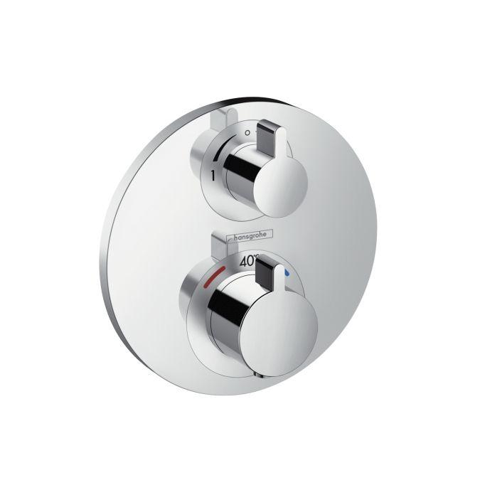 HansGrohe Ecostat S falsík alatti termosztátos csaptelep / 2 fogyasztóhoz / 15758000 / 15758 000