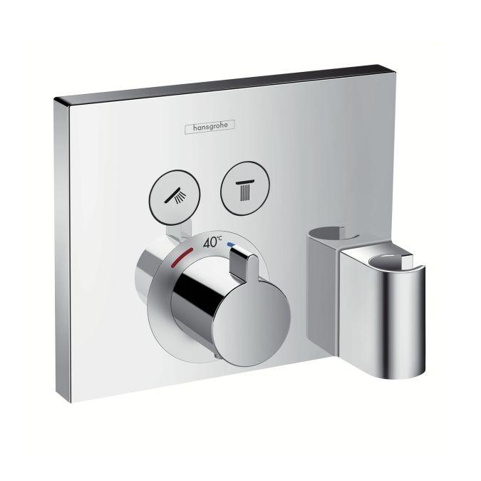 HansGrohe ShowerSelect termosztát 2 fogyasztóhoz / falsík alatti szereléshez / beépített Fixfittel és Porter szettel / 15765000 / 15765 000