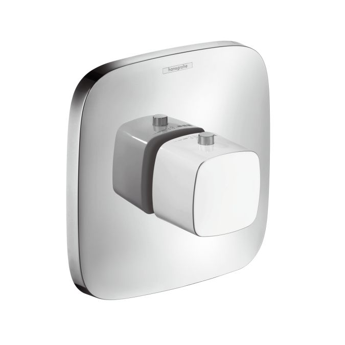 HansGrohe PuraVida Highflow falsík alatti termosztát színkészlet / fehér-króm / 15772400 / 15772 400