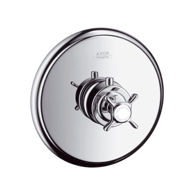 HansGrohe AXOR Montreux Highlow falsík alatti termosztátos színkészlet / szálcsiszolt nikkel / 16815820 / 16815 820