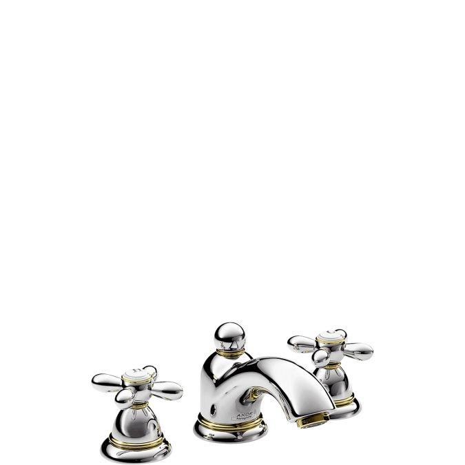 HansGrohe AXOR Carlton 3-lyukú mosdócsaptelep keresztfogantyúval DN15 / króm / 17133000 / 17133 000