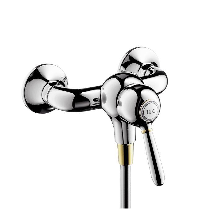 HansGrohe AXOR Carlton Egykaros zuhanycsaptelep falsíkon kívüli szereléshez DN15 / króm-arany hatású / 17610090 / 17610 090