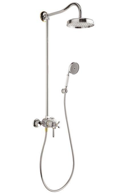 HansGrohe AXOR Carlton Showerpipe DN15 / króm-arany hatású / 17670090 / 17670 090