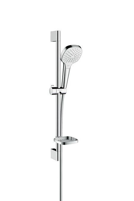 HansGrohe Croma Select E Vario zuhanyszett 0.65m/ fehér króm / Casetta szappantartóval szappantartóval / 26586400 / 26586 400