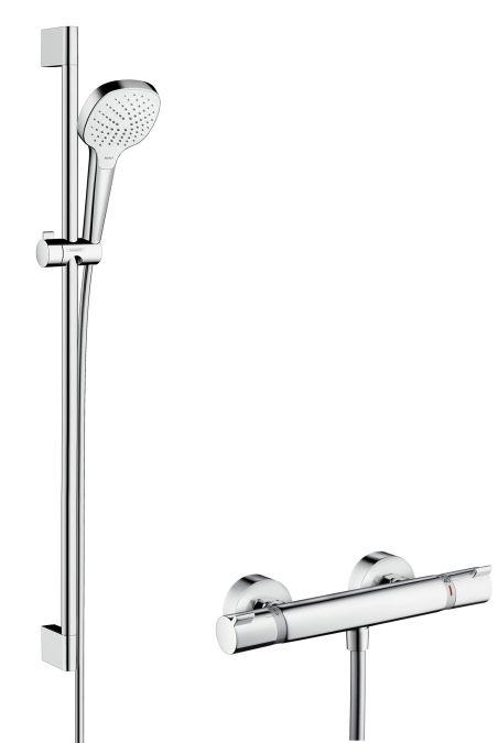 HansGrohe Croma Select E Vario Combi szett 0,90 m / króm-fehér / 27082400 / 27082 400