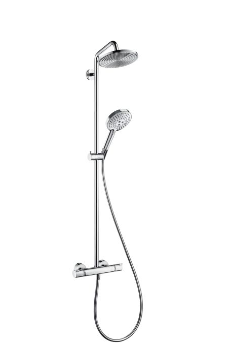 HansGrohe Raindance Select S 240 1jet Showerpipe EcoSmart 9 l/perc / DN15 / króm / 27116000 / 27116 000