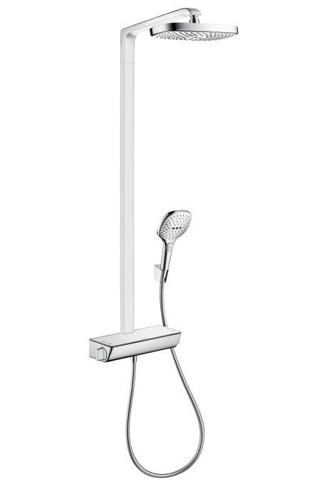HansGrohe Raindance Select E 300 2jet Showerpipe / DN15 / fehér-króm / 27128400 / 27128 400