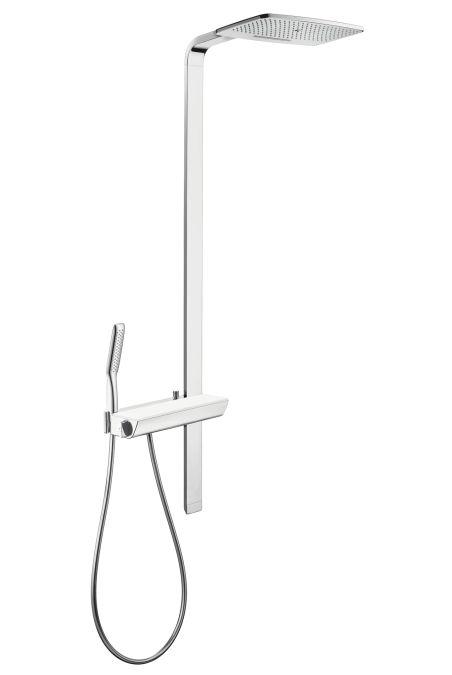 HansGrohe Raindance E Showerpipe 420 mm / 400 mm-es zuhanykarral / króm / 27149000 / 27149 000