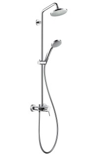 HansGrohe Croma 100 Showerpipe egykaros csapteleppel / DN15 / króm / 27154000 / 27154 000