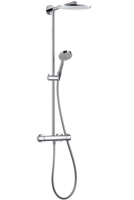 HansGrohe Raindance S 240 Showerpipe / 460 mm-es zuhanykarral / DN15 / króm / 27160000 / 27160 000