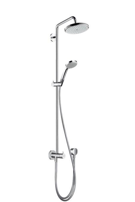 HansGrohe Croma 220 Showerpipe Reno 400 mm-es  kézizuhannyal / DN15 / króm / 27224000 / 27224 000