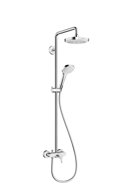 HansGrohe Croma Select E 180 2jet Showerpipe egykaros csapteleppel / króm-fehér / 27258400 / 27258 400