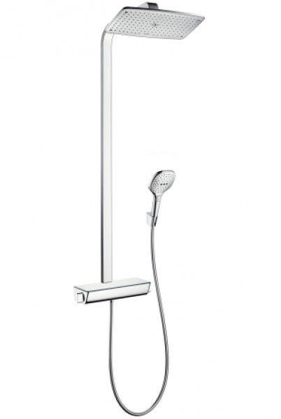 HansGrohe Raindance Select E 360 EcoSmart Showerpipe 9 l/perc, fehér/króm / 27286400 / 27286 400