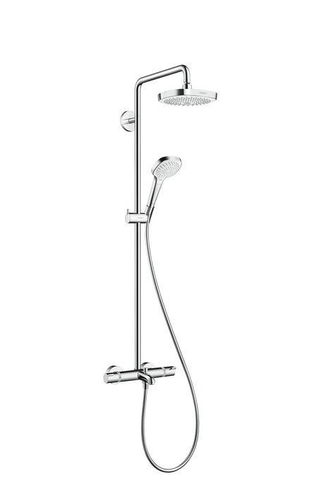 HansGrohe Croma Select E 180 2jet Showerpipe kádhoz / fekér króm / 27352400 / 27352 400