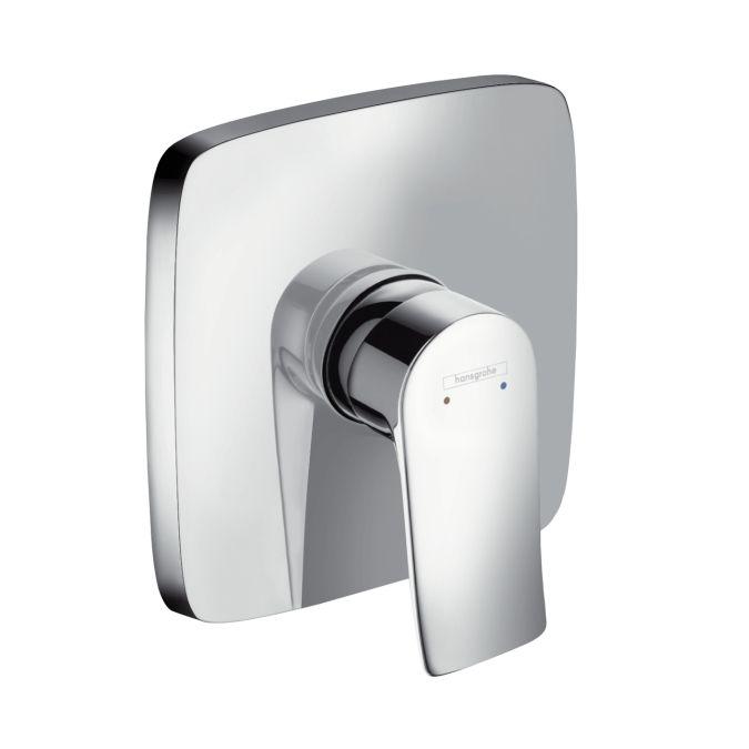 HansGrohe Metris egykaros, falsík alatti zuhanycsaptelep színkészlet / króm / 31456000 / 31456 000