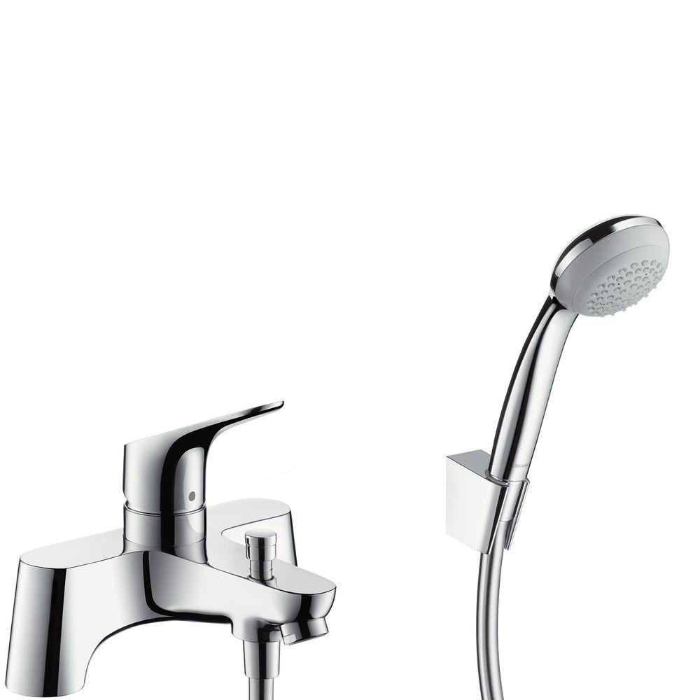 HansGrohe Focus 2lyukas peremre szerelhető kádcsaptelep / Crometta 85 1jet /Porter 'S zuhanyszettel / 31521000 / 31521 000