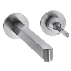 HansGrohe rozsdamentes acél hatású Egykaros mosdócsaptelep falsík alatti szereléshez takarórozettákkal és rövid kifolyóval DN15, rozsdamentes acél  / 35113800 / 35113 800