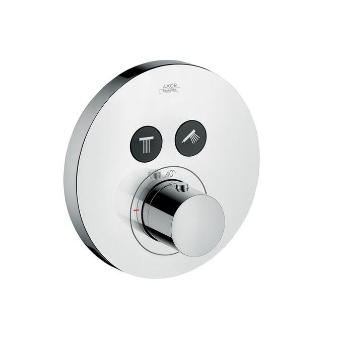 HansGrohe Axor ShowerSelect Round falsík alatti termosztátos csaptelep 2 fogyasztóhoz / 36723000 / 36723 000
