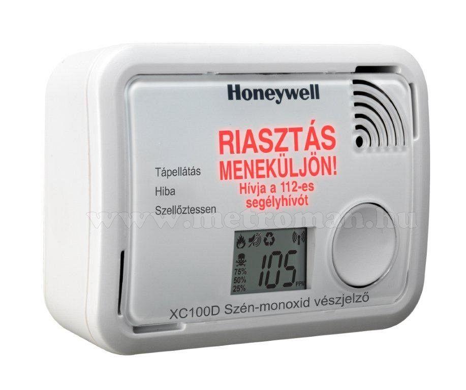 HONEYWELL XC100D CO szén-monoxid érzékelő / szénmonoxid detektor / riasztó / vészjelző, digitális / LCD kijelzővel, XC100D-HU, (H450 utódja)