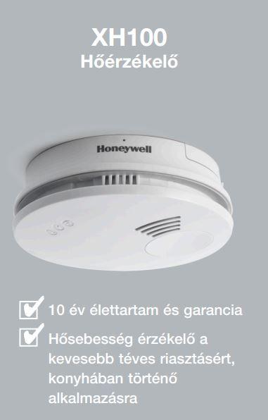 HONEYWELL XH100 hőérzékelő/ hőérzékelős tűzjelző, elemes / akkus, XH 100-HU / XH100