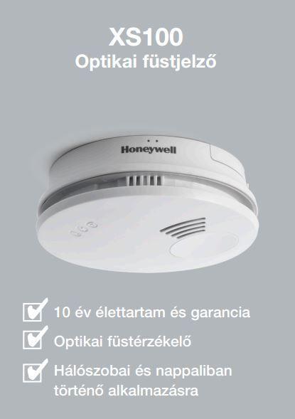 HONEYWELL XS100 optikai füstjelző / füstérzékelő / detektor / riasztó / vészjelző / elemes, XS 100-HU / XS100