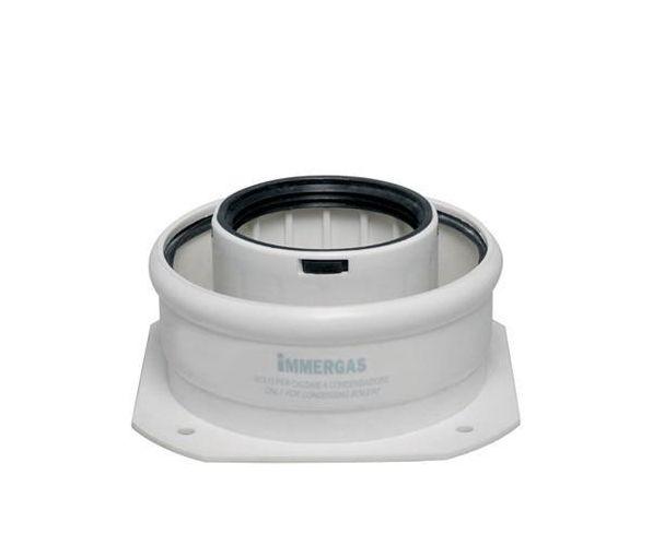 Immergas kondenzációs kazánhoz karimás  induló / indító idom 60/100 mm-es zöld szériás, 3.012086