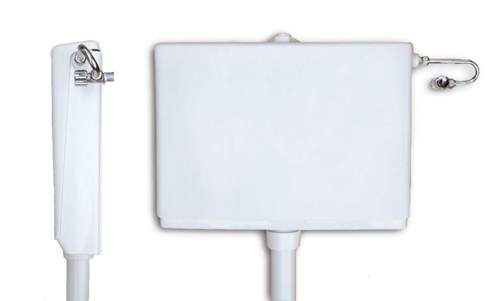 KARIBA Slim falon kívüli, keskeny / vékony / helytakarékos WC tartály, 10,5 cm / 105 mm mély
