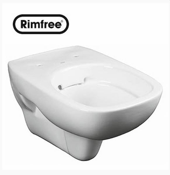 KERAMAG KOLO STYLE fali szögletes wc csésze, Rimfree®, öblítőperem / perem nélküli, újdonság L23120