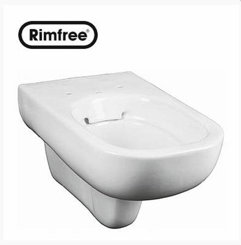 KERAMAG KOLO TRAFFIC fali szögletes wc csésze, Rimfree®, öblítőperem / perem nélküli, újdonság L93120