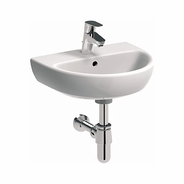 KERAMAG KOLO NOVA PRO ovális kézmosó / mosdó, csaplyukkal, túlfolyóval, 45x37 cm M32145