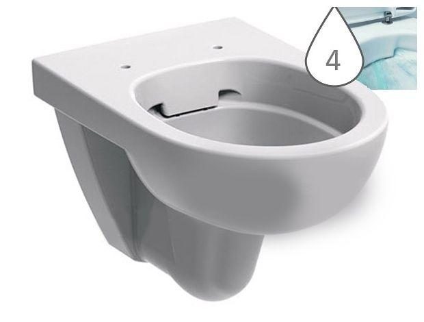 KERAMAG KOLO NOVA PRO fali ovális wc csésze, Rimfree®, öblítőperem / perem nélküli, újdonság M33120