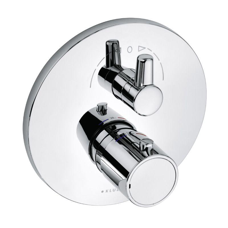 KLUDI O-CEAN / ZENTA falsík alatti termosztátos kád- és zuhanycsaptelep látható rész 388300545 / 3883005-45 / 38830-05-45