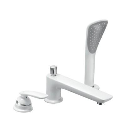 KLUDI BALANCE egykaros kádtöltő- és zuhanycsaptelep, süllyeszthető kézizuhannyal 220 mm, fehér/króm, álló 524479175 / 5244791-75 / 52447-91-75
