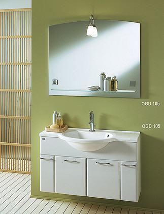 Kolpa San DORA 105 komplett alsószekrény öntött márvány mosdóval és tükörrel (OGD+OUD)