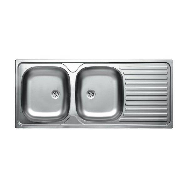 """LIVINOX EC-138K kétmedencés + csepptálcás rozsdamentes beépíthető mosogató 116x50 cm 3 1/2"""""""