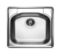 """LIVINOX N-309JK panel /  házgyári egymedencés rozsdamentes mosogató / mosogatótálca fúrt 48x48 cm 1 1/2"""" jobboldali csaplyukkal"""