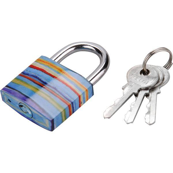 EXTOL CRAFT lakat, festett vas, 3 kulccsal, bliszteren; 38mm / 77021 (MB)
