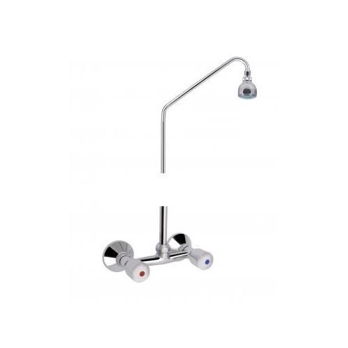 """MOFÉM EUROSZTÁR zuhany csaptelep felső csatlakozással (3/4""""), fix felszállócsővel és rózsával / 143-0110-00 / 143-0110-00"""