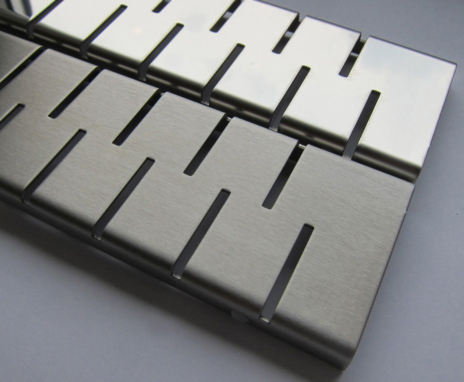 MOFÉM / TEKA Linear MLS-650 M padlósíkra építhető lefolyó / zuhanylefolyó szett, Medium ráccsal (két oldalról réselt), SAROK 501-0005-01 / 501000501