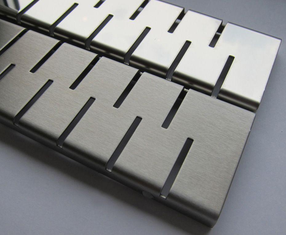 MOFÉM / TEKA Linear MLS-850 M padlósíkra építhető lefolyó / zuhanylefolyó szett, Medium ráccsal (két oldalról réselt), SAROK 501-0007-01 / 501000701