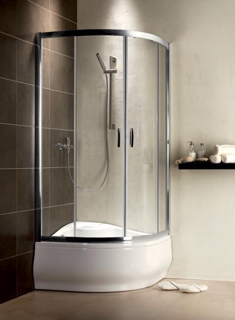 RADAWAY Premium Plus A 1700  íves zuhanykabin 800x800x1700 mm / 06 fabrik üveg / 30411-01-06N