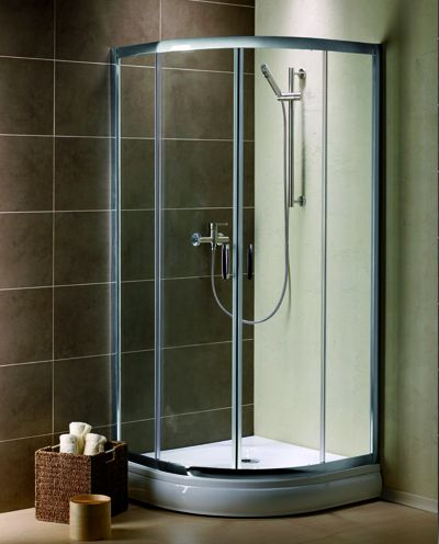 RADAWAY Premium Plus A 1900 A100 íves zuhanykabin 1000x1000x1900 mm / 08 barna üveg / 30423-01-08N